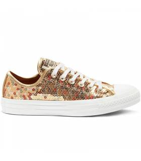 CONVERSE CHUCK TAYLOR ALL STAR SEQUIN LOW DORADO W
