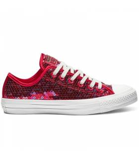 CONVERSE CHUCK TAYLOR ALL STAR SEQUIN LOW ROJO W