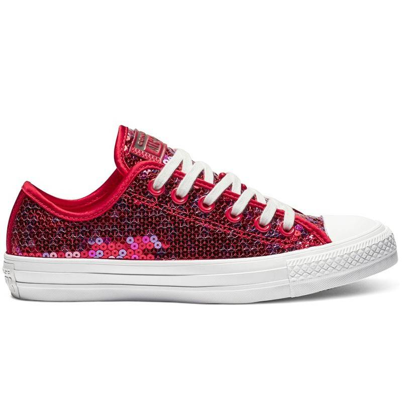 Chuck Converse Classic Star Rojo MujerT Box Low Taylor All Sequin oeBWdCxQr