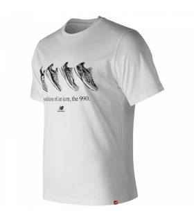 NEW BALANCE CAMISETA ESSENTIALS 90´S BLANCO M