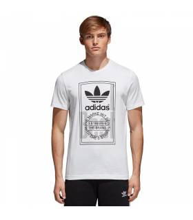 ADIDAS CAMISETA TONGUE LABEL BLANCO M