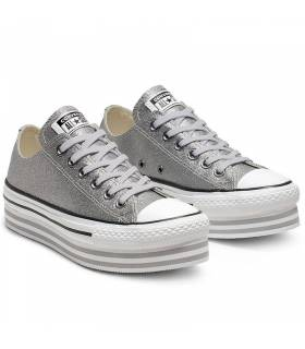 CONVERSE CHUCK TAYLOR ALL STAR LIFT PLATA LOW TOP W