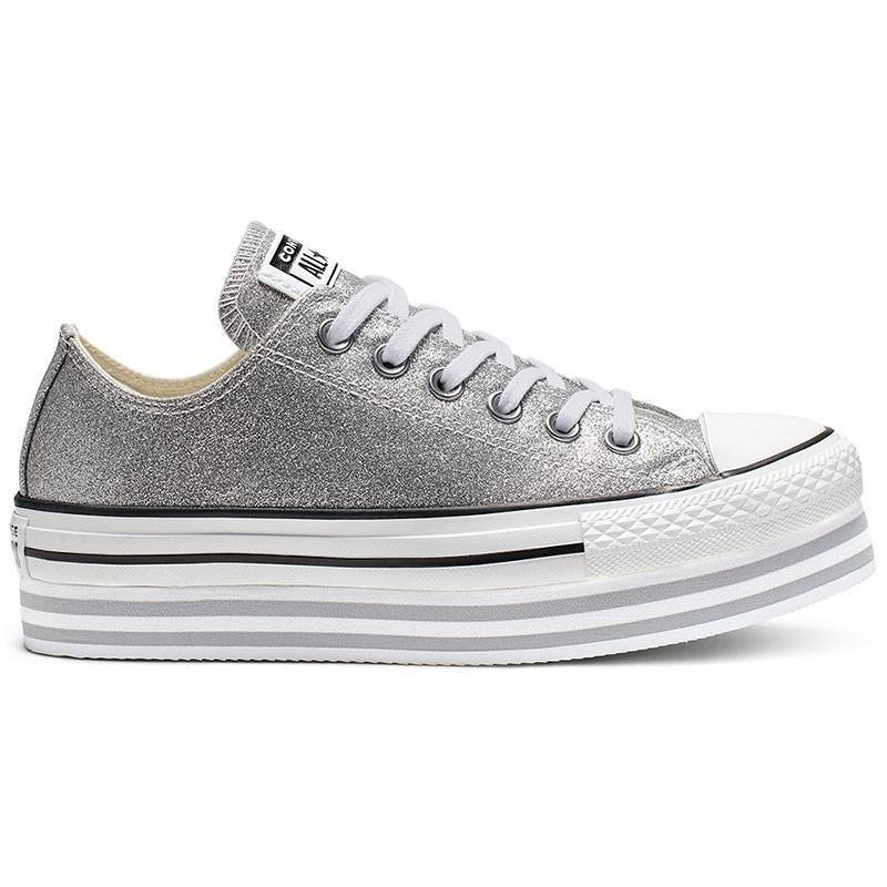 converse all star plateadas