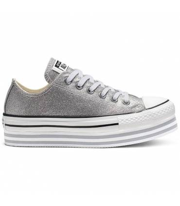 all star converse plateadas