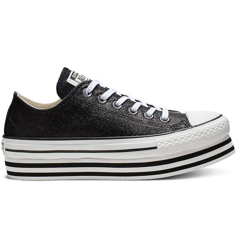 CONVERSE CHUCK TAYLOR ALL STAR LIFT NEGRO METÁLICO LOW TOP W