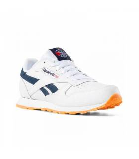 REEBOK CLASSIC LEATHER BLANCO Y AZUL INFANTIL
