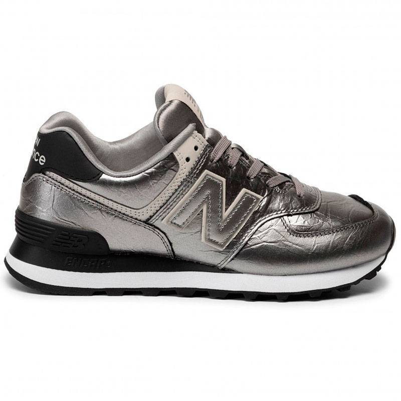 New Balance 574 Plateado para Mujer | T-Box Shoes Size 36 Color PLATEADO
