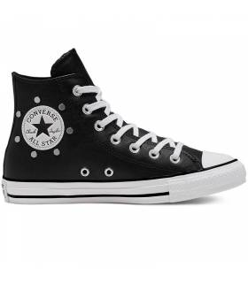 CONVERSE CHUCK TAYLOR STUDS HIGH NEGRO MUJER