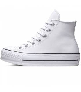 CONVERSE CHUCK TAYLOR LIFT LEATHER NEGRO MUJER