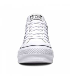 CONVERSE CHUCK TAYLOR LIFT LEATHER BLANCO MUJER