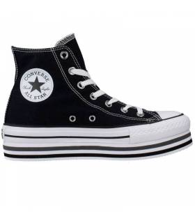 CONVERSE CHUCK TAYLOR ALL STAR PLATFORM HIGH NEGRO MUJER