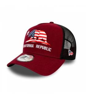 NEW ERA GORRA CALIFORNIA TRUCKER ROJO