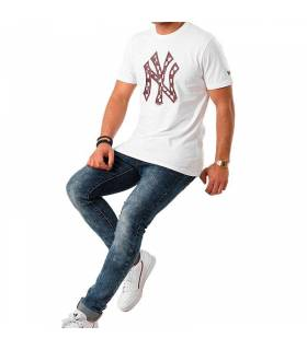 NEW ERA CAMISETA NEW YORK YANKEES BLANCO HOMBRE