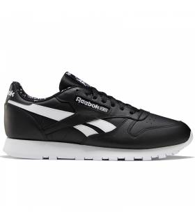REEBOK CLASSIC LEATHER NEGRO LETTERING HOMBRE