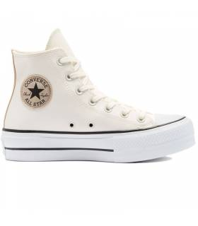 CONVERSE CHUCK TAYLOR LIFT LEATHER BEIGE MUJER