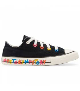 CONVERSE CHUCK TAYLOR LOW MY STORY NEGRO MUJER